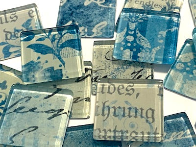 Blue Vintage Glass Tiles 2.5cm (HM)