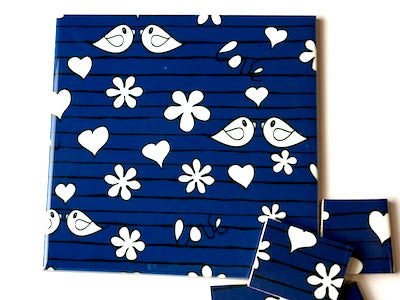 Blue Birds Ceramic Tiles 10x10cm