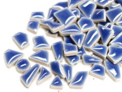 Demin Blue Ceramic Puzzle Pieces