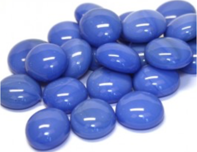 Blue Marble Glass Gems
