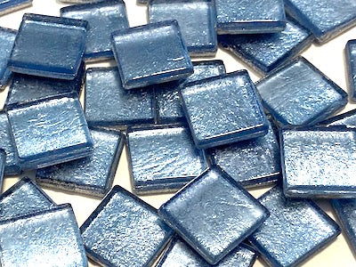 Blue Metallic Glass Tiles 1.5cm