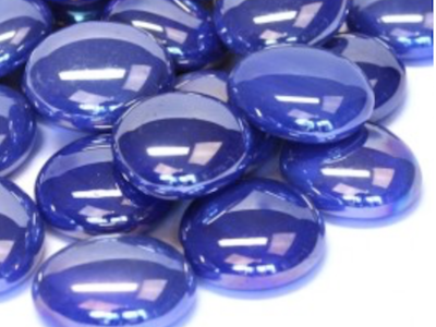 Blue Opalescent Glass Gems