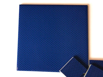 Blue Polka Dots Ceramic Tiles 10x10cm