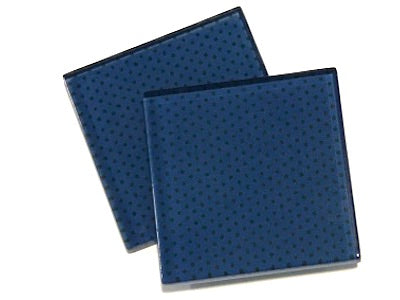 Blue Polka Dots 5cm Glass Tiles