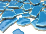 Blue Ceramic Puzzle Pieces