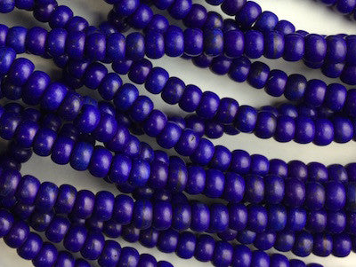 Blue rounded beads