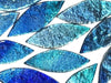 blue silverfoil glass petals