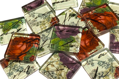 BOTANICAL GLASS TILES 2.5CM - NO. 13 (HM)