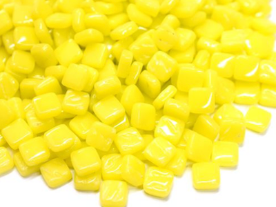 Bright Yellow 8mm Glass Tiles