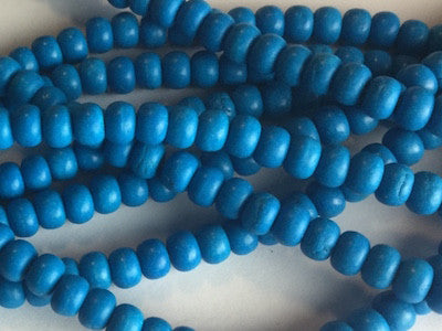 Bright blue rounded beads