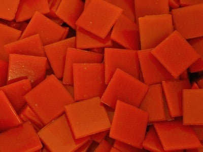 Bright Orange 2cm Venetian Mosaic Glass Tiles