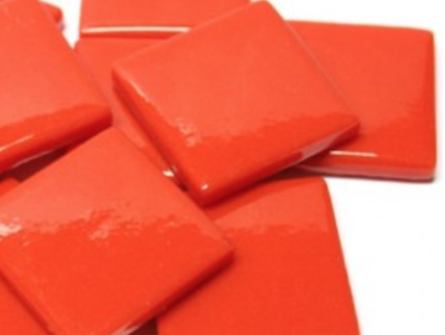 Bright Red Gloss Glass Tiles 2.5cm