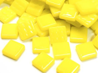 Bright Yellow Gloss Glass Tiles 1.2cm