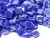 Iridised Brilliant Blue 8mm Glass Tiles