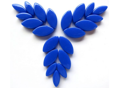Brilliant Blue Gloss Glass Petals