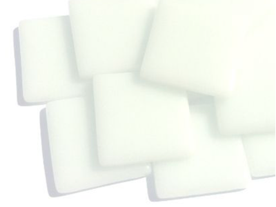 Broken White Gloss Glass Tiles 2.5cm