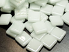Broken White Gloss Glass Tiles 1.2cm