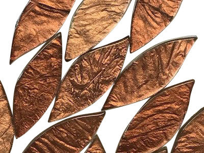 Bronze Silverfoil Glass Petals