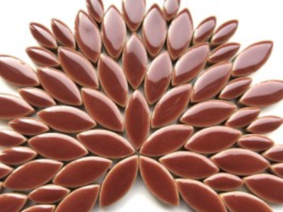 Brown Ceramic Petals