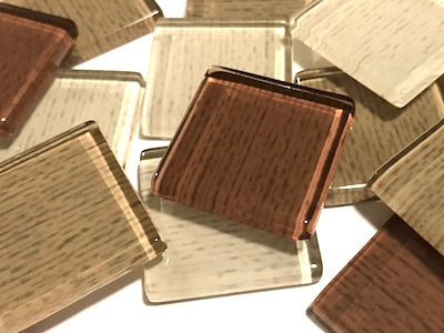 Brown Fine Textured Glass Tiles 2.5cm