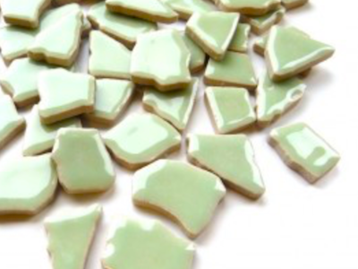 Celadon Green Ceramic Puzzle Pieces