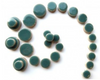 Teal Green Ceramic Discs