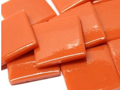 Chilli Red Gloss Glass Tiles 2.5cm