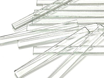 Clear Glass Strips - 10x1cm