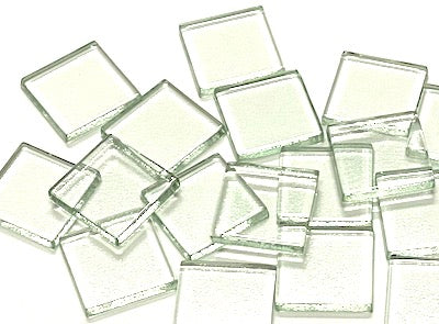 Clear Glass Tiles - 2.5 x 2.5 cm