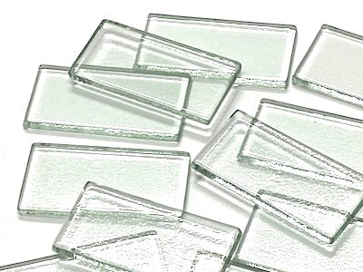 Clear Glass Tiles - 5 x 2.5 cm
