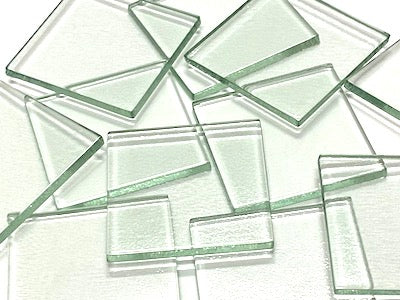 Clear Glass Tiles - 5 x 5 cm