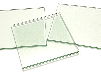 Clear Glass Tiles - 10 x 10 cm