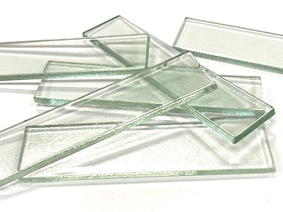 Clear Glass Tiles - 10 x 2.5 cm