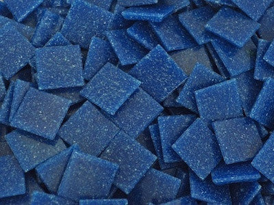 Cobalt Blue 2cm Venetian Mosaic Glass Tiles