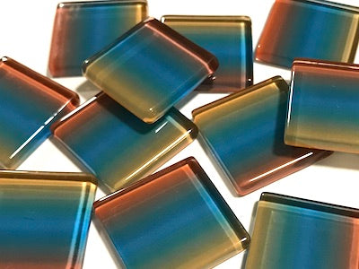 Colour Combination Glass Mosaic Tiles 2.5cm - No. 1