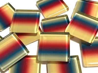 Colour Combination Glass Mosaic Tiles 2.5cm - No. 13