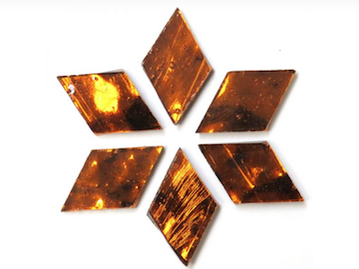 Copper Regalia Mirror Diamonds