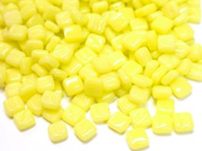Daffodil yellow 8mm glass tiles