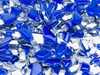 Dark Blue Crackled Glass Mosaic Tiles