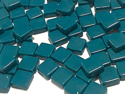 Dark Teal Gloss Glass Tiles 1cm