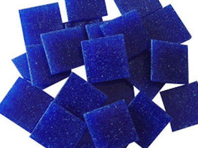 Dark Blue Venetian Glass Mosaic Tiles 2cm