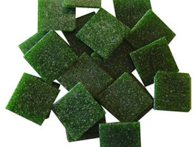 Dark Green 2cm Venetian Mosaic Glass Tiles