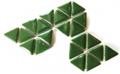 Dark Green Ceramic Triangle