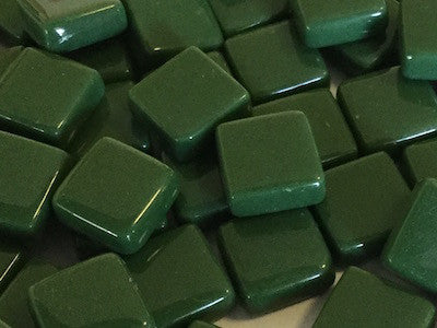 dark green gloss glass tiles