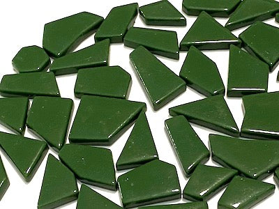 Dark Green Irregular Gloss Glass Tiles