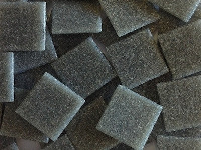 Dark Grey 2cm Venetian Mosaic Glass Tiles