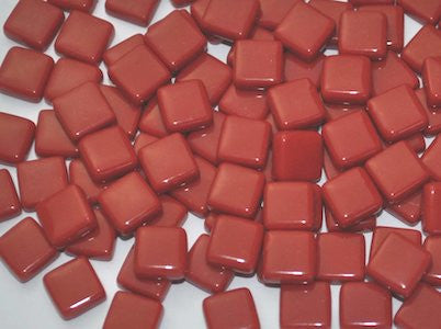 Dark Red Gloss Glass Tiles 1cm (W4)