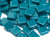 Deep Teal Gloss Glass Tiles 1.2cm