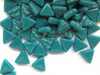Dark Teal Glass Triangles
