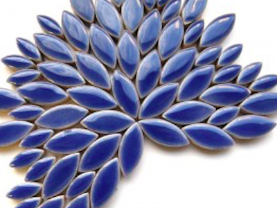 dark blue ceramic petals